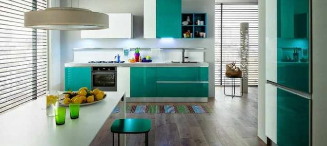 Cocinas a todo color los colores de moda este 2018 - Colores recomendados para cocinas ...