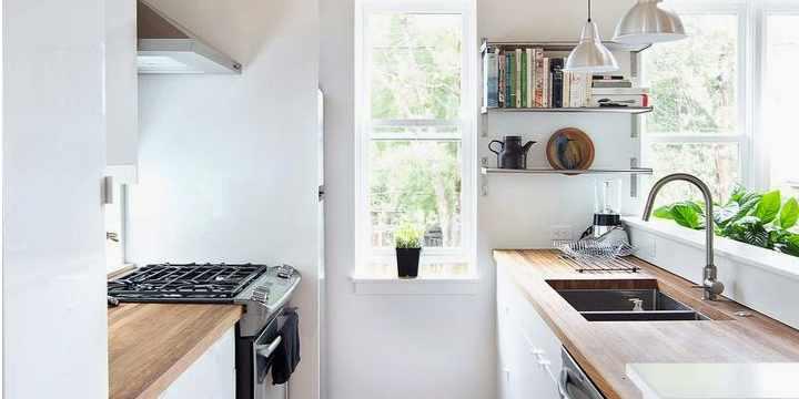 Soluciones que enamoran para cocinas pequenas vidrio panel - Soluciones cocinas pequenas ...